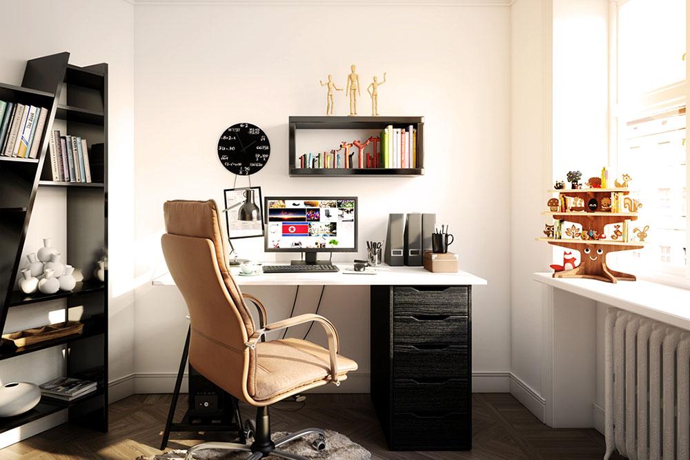 Oficina en la casa Teletrabajo