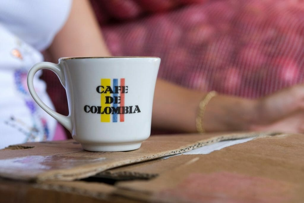 taza de café de colombia