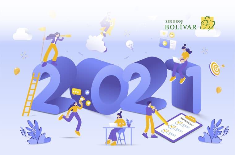 Ilustración propósitos 2021