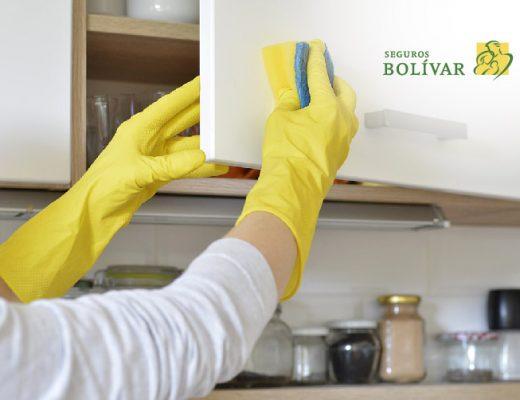 cómo limpiar los muebles de la cocina